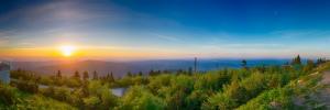 Pohled na Beskydskou krajinu z hor