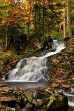 vodopád Malé Moravy na podzim