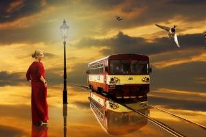 Vlak do stanice Nebe