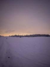 Zimní krajina v noci
