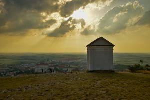 Pohled na Mikulov ze Svatého kopečku