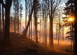 Západ slunce na Křemešníku